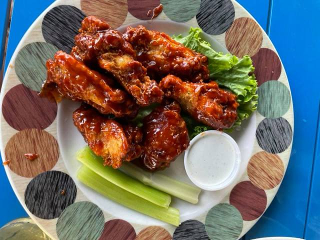 Wings at Fat Daddy's Sports and Spirits Cafe in Mansfield, Texas