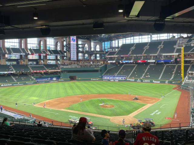 Texas Rangers Baseball at Globe Life Field in Arlington, Texas